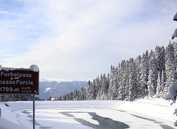 Furkelpass im Winter